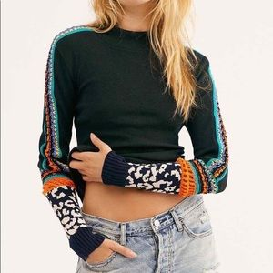nwt // free people switch it up cuff thermal top